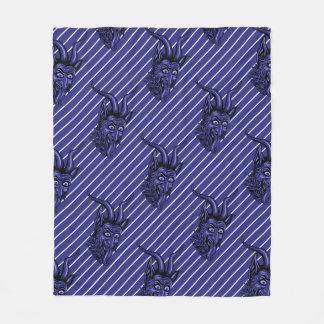 Krampus gör dig att ha jul för en blått fleecefilt