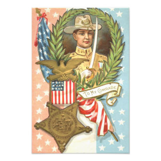 Kran för kavalleri för inbördeskrigUS-flagga