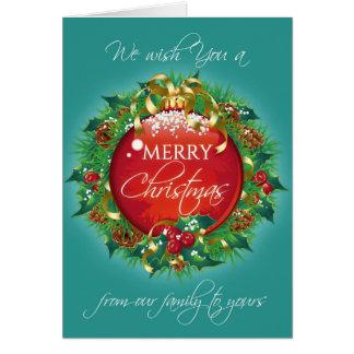 Kran för kricka för god julhälsningkort hälsningskort