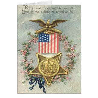 Kran för örn för medalj för inbördeskrig för hälsningskort