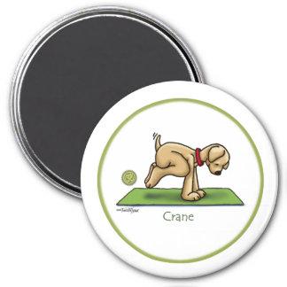Kran - Yoga Magnet Rund 7.6 Cm