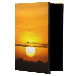 Kranar på soluppgången powis iPad air 2 skal