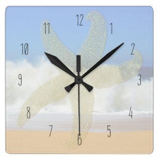 Krascha vinkara den numrerade havsjöstjärnan fyrkantig klocka