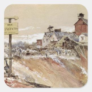 Krater på Skinka-Sanktt-Quentin Fyrkantigt Klistermärke