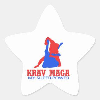 Krav Maga designer Stjärnformat Klistermärke