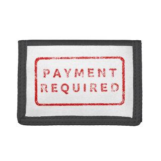 Krävd betalning