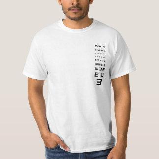 Kreativet värderar T-tröjamallen Tröja