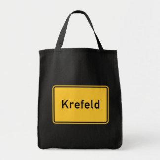 Krefeld tysklant vägmärke mat tygkasse