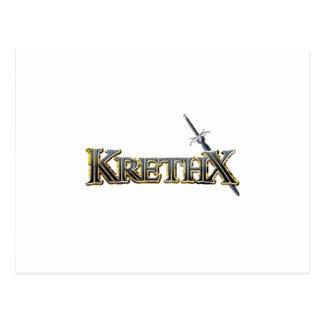 KrethX logotyp (alternativ 1) Vykort