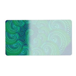 Kricka-, blått- och gröntsnäckadiagram fraktsedel