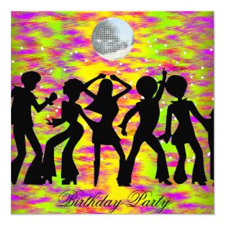 Kricka för dansdiskofödelsedagsfest inbjudan