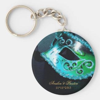 Kricka Keychain för maskeradbröllopfavör Rund Nyckelring