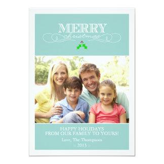 Kricka- och för vithelgdagfoto kort 12,7 x 17,8 cm inbjudningskort