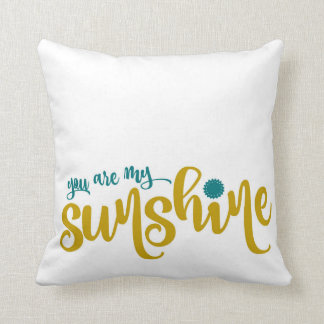 Kricka och gulttypografi mitt solsken kudde