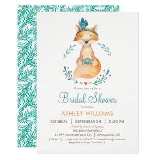 Kricka och orange rävinbjudningskort för möhippan 12,7 x 17,8 cm inbjudningskort