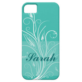 Kricka- & vitblommigt iPhone 5 cover