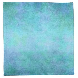Krickablått, lilor, Aqua och violett vattenfärg Tygservett