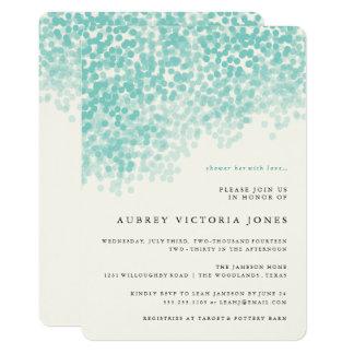 Krickablått tänder duschinbjudningskort för 12,7 x 17,8 cm inbjudningskort