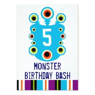 Krickablåttmonster synar födelsedagsfest inbjudan