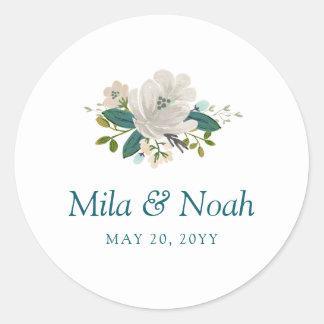 Krickan blommar bröllop runt klistermärke