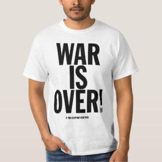 Krig är över den Ron Paul skjortan Tee Shirts