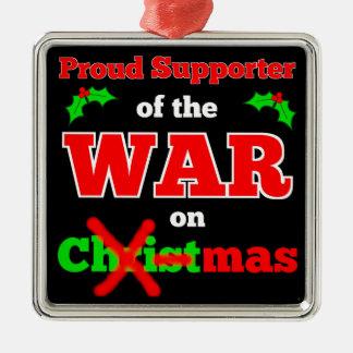 Krig på den julX-mas prydnaden (svarten) Julgransprydnad Metall