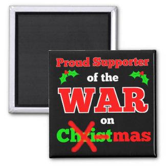 """""""Krig på jul"""" X-Mas magnet (svarten)"""