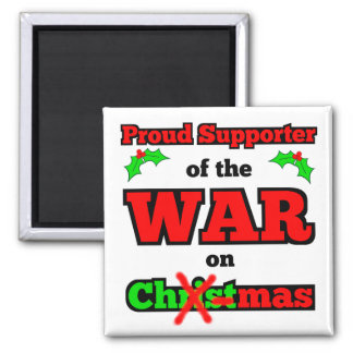 """Krig på jul"" X-Mas magnet (vit)"