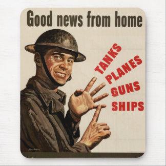 Krigaffisch för vintage WWII Mus Mattor