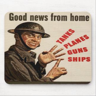 Krigaffisch för vintage WWII Musmattor