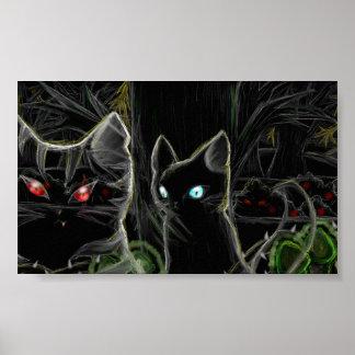 Krigare Hawfrost och Tigerstar- den mörka skogen Poster