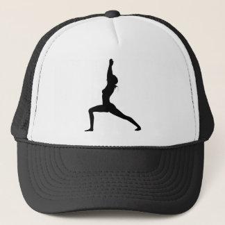 Krigare som jag Yoga poserar i Silhouette Keps