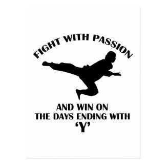 krigs- design för aikido vykort