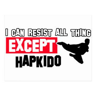 krigs- design för hapkido vykort