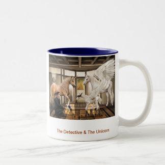 Kriminalaren & unicornen Två-Tonad mugg