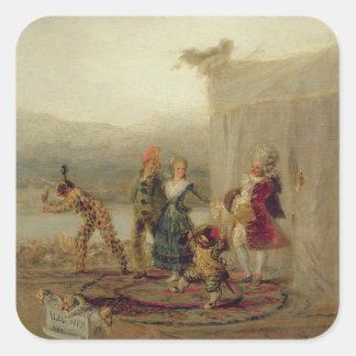 Kringresande spelare, 1793 (olja på bleckplåten) fyrkantiga klistermärken