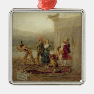 Kringresande spelare, 1793 (olja på bleckplåten) julgransprydnad metall
