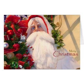 Kris Kringle /Santa Claus/jul Hälsningskort
