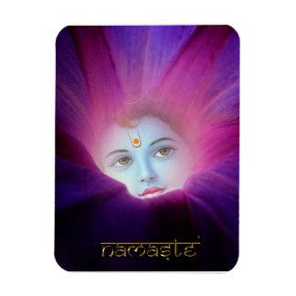 Krishna morgonhärlighet Namaste högvärdiga Flexi M Rektangel Magneter