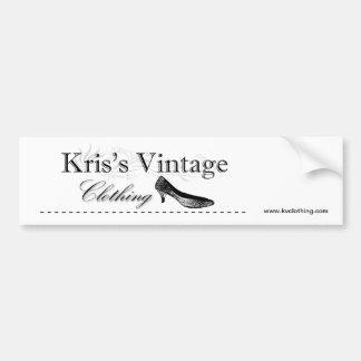 Kriss vintage som beklär logotypbildekalet bildekal