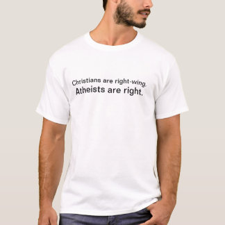 Kristen är right wing., ateister är höger t-shirt