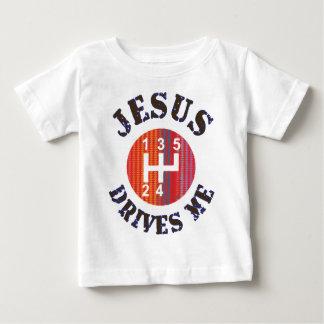Kristen bebist-skjorta - Jesus kör mig Tee