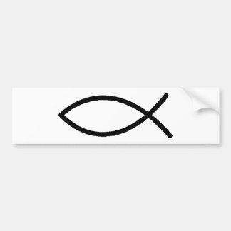 Kristen fisk bildekal