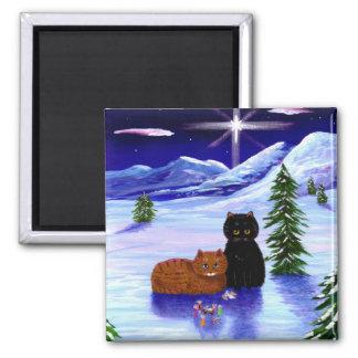 Kristen för mus för julhelgdagkatt magnet