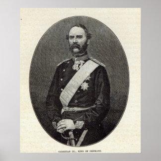 Kristen IX, kung av Danmark Posters