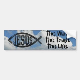 Kristen Jesus fisk, svart Ichthys Bildekal