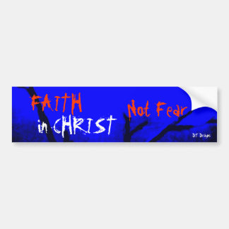 Kristen tro i skräckbildekal för Kristus inte Bildekal