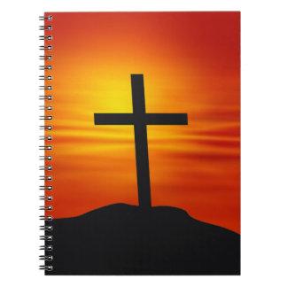 KRISTENKOR ANTECKNINGSBOK MED SPIRAL