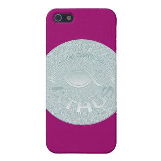 Kristet fisksymbol för IXTHUS - SILVER iPhone 5 Skal