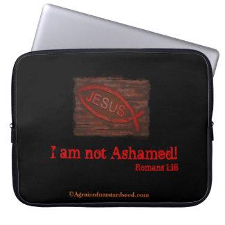 Kristna citationstecken laptop sleeve